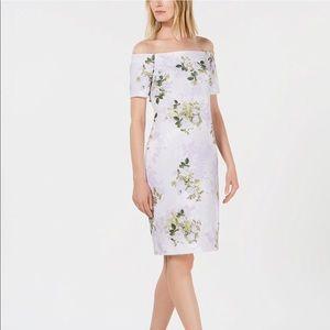 Calvin Klein off the shoulder dress